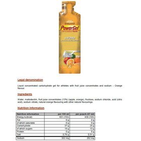 PowerBar PowerGel Hydro Box Orange 24 x 67ml